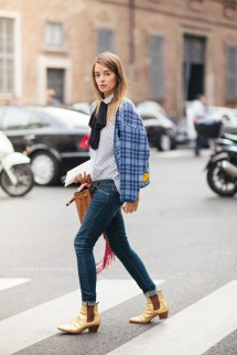 gold-booties-bow-blouse-plaid-jacket-cuffed-jeans-rolled-jeans-polka-dots-mixed-prints-fall-outfit-wor-outfit-brunch-carlotta-otti-via-www-640x960